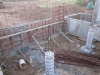 3-31-2011 Deck support wall pour