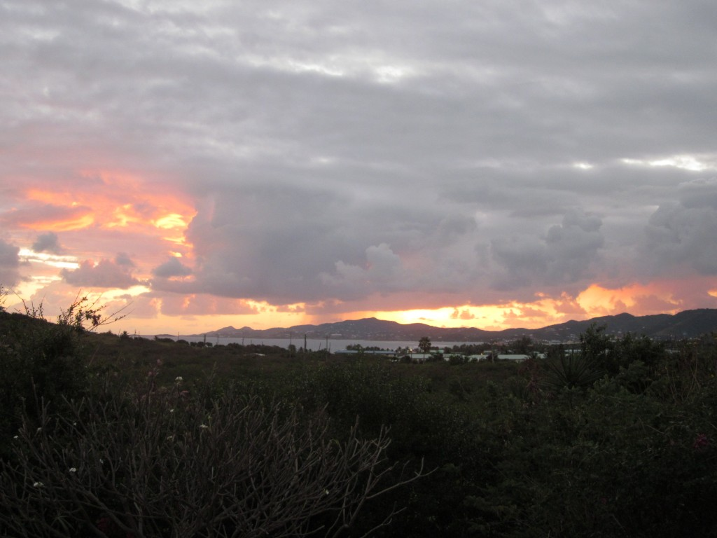 Sunrise over Christiansted from our rental