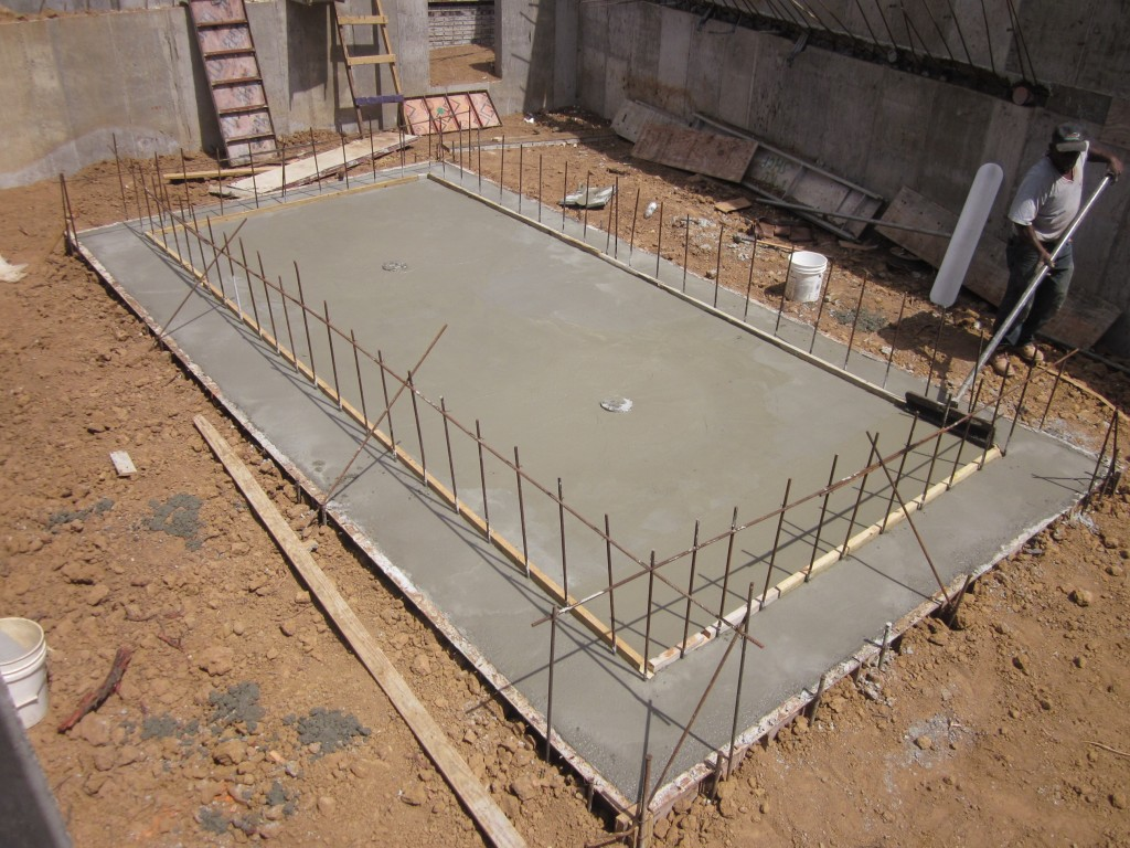 3-16-2011 - Pool slab poured