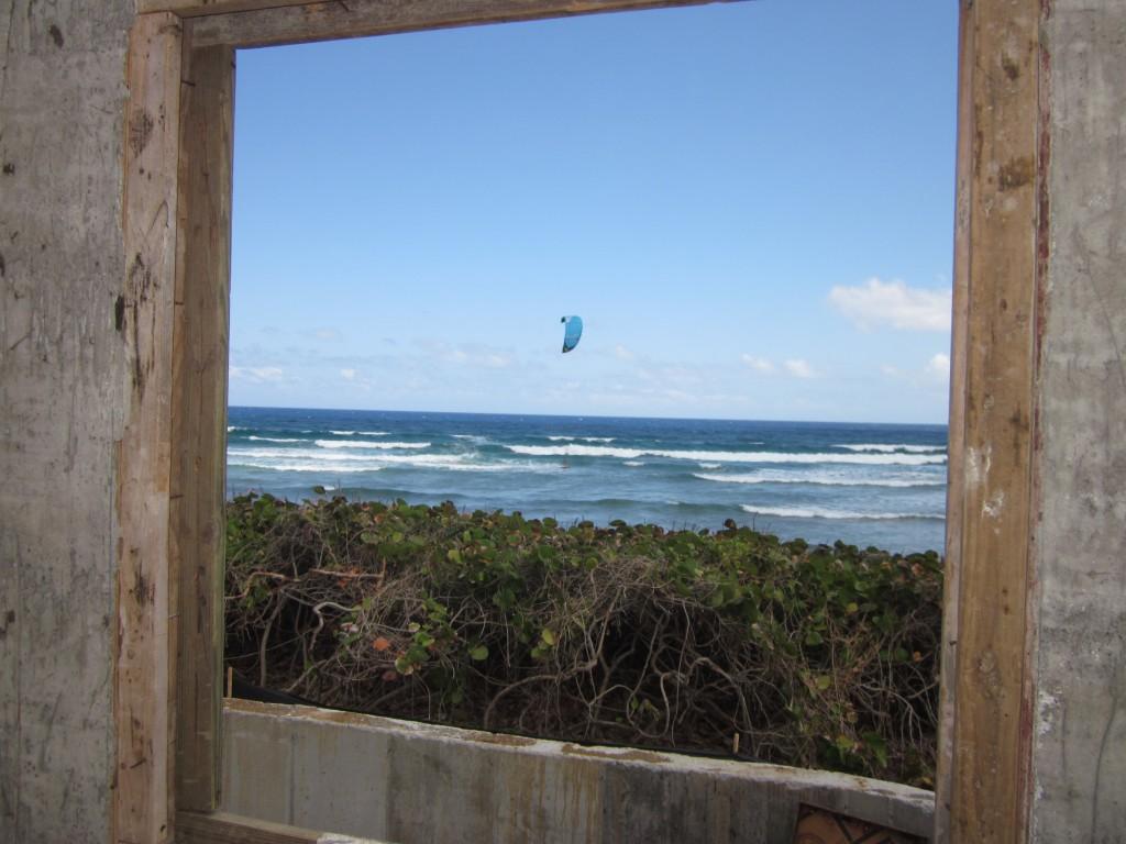 3-24-2011 - Kite Surfer from office window