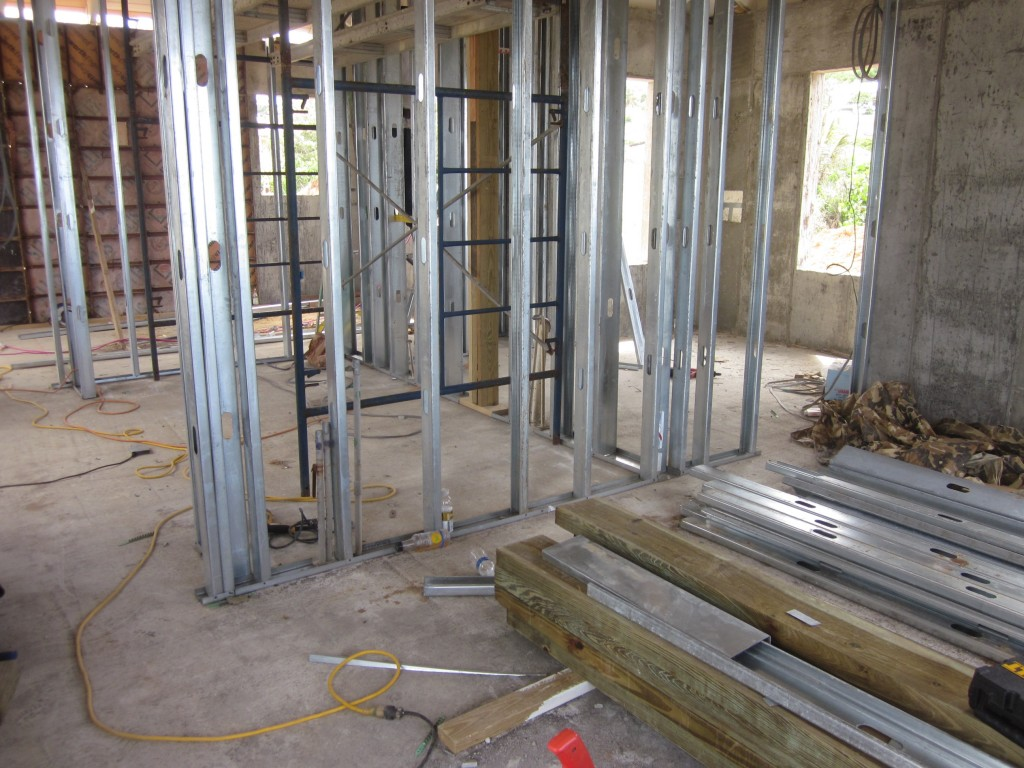 5/4/2011 - Interior walls being framed