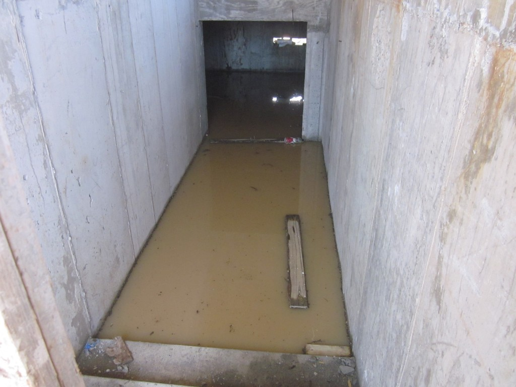 5/18/2011 - This is the electrical room below the house, there are 7 steps under water