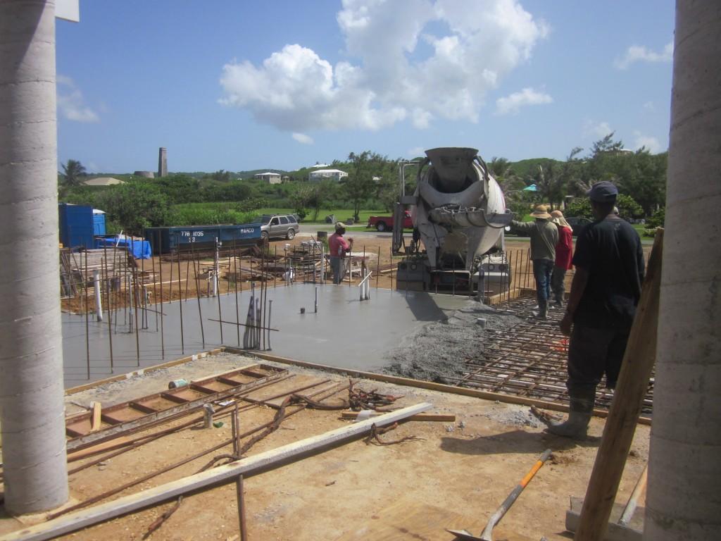 6/3/2011 - Living area slab pour