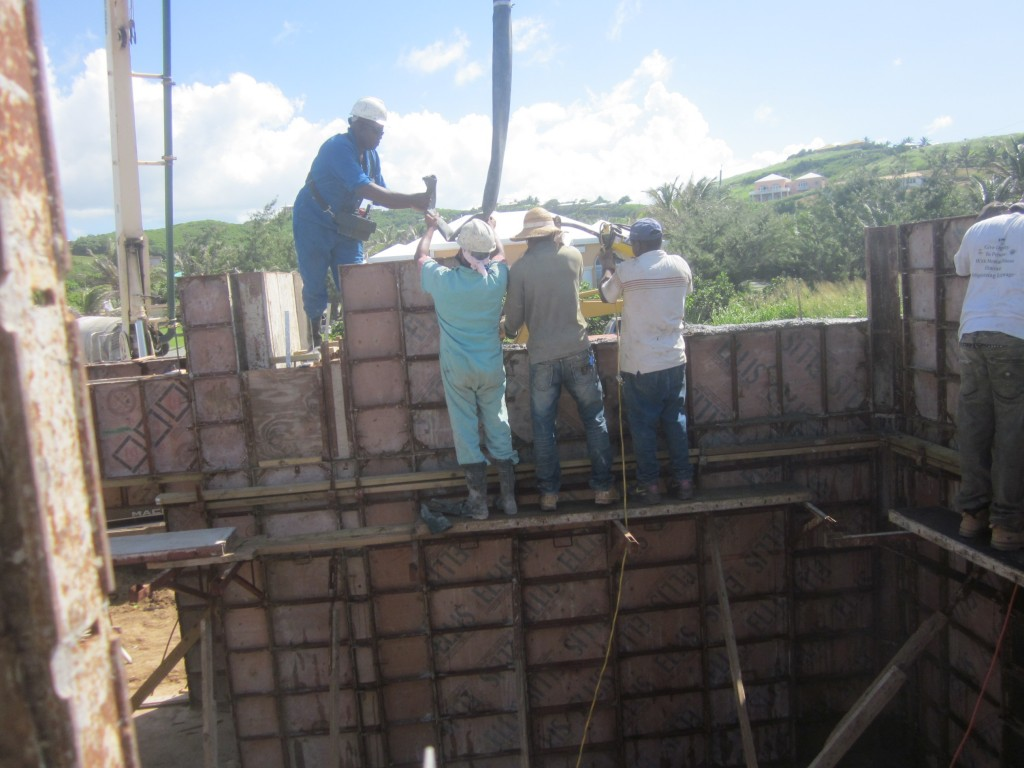 6/18/2011 - Pouring walls