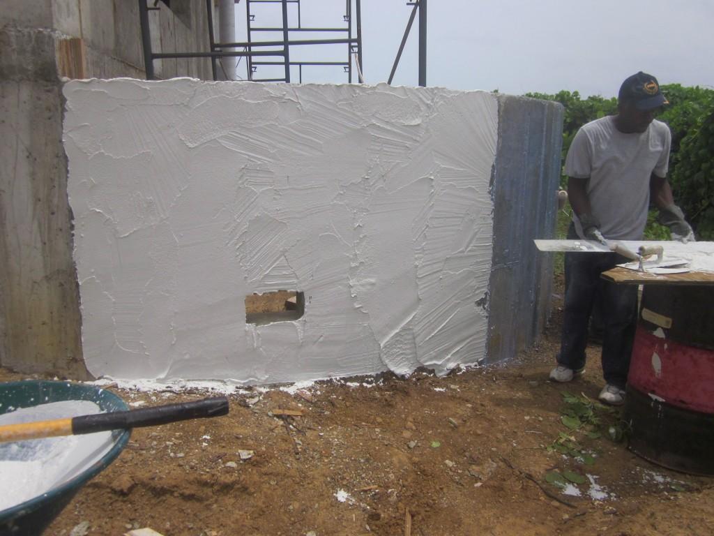 6/30/2011 - Plaster work commences