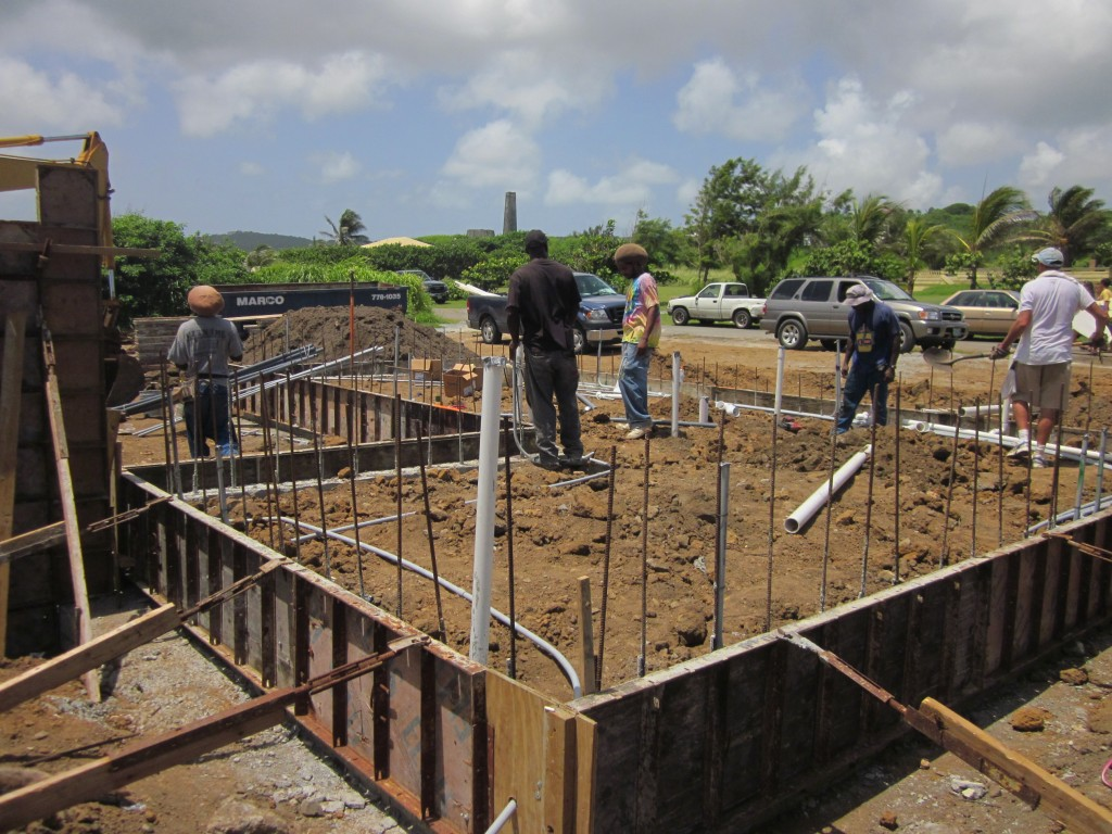 7/21/2011 - Guesthouse under-slab electrical and plumbing going in