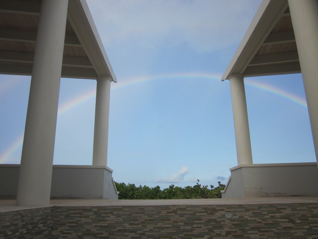 1/6/2012 - Rainbow from the pool
