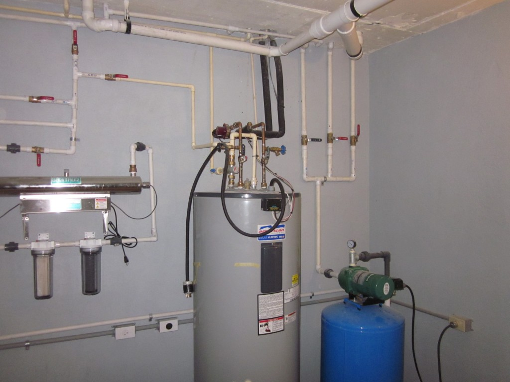 1/24/2012 - Water purification system, solar hot water tank, and water pump
